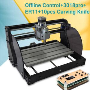 CNC 3018Pro Laser DIY Wood CNC Router Engraving Machine 3Axis PVC PCB Offline