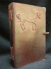 A5 in pelle fatto a mano Journal Diary Sketchbook-Fantasy Unicorno