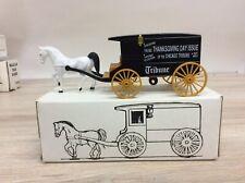 Ertl Horse & Wagon Bank Chicago Tribune Thanksgiving Day NEW NIB E2290