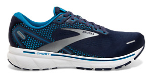 NEW Brooks Ghost 14 Running Shoes Navy White Men's Sizes 8-14 FREE SHIPPING