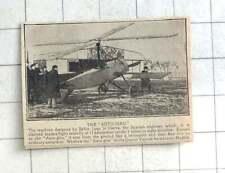 1924 Autogiro, Juan La Cierva, At The Quatro Vientos Aerodrome Madrid