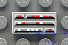 NEW Lego City Minifig COMPUTER PANEL 1x2 PRINTED TILE - Gray w/Red White & Black