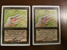 Deathgrip X1 Revised Ed Signed by Anson Maddocks Magic the Gathering