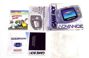 Nintendo GameBoy Advance GBA Arctic Glacier System Console BOX and INSERTS only