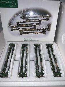 Department 56 Accessories Holly Split Rail Fence Set Of 4
