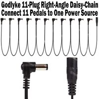 Godlyke CABLE 11 RIGHT-ANGLE 11-Plug Daisy Chain Up to 11 Pedals on One Supply