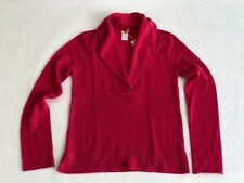 Women's JCREW Pink 100% Cashmere Long Sleeved Collared Sweater - Small