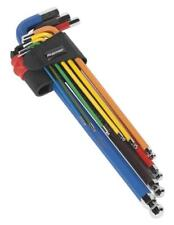 Sealey AK7191 9 Piece Colour Coded Ball End Hexagon Key Set 1.5-10mm Extra Long