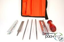 8PC CHAIN SAW SHARPENING FILE AND GUIDE KIT WITH CASE. ALL BARS/CHAINS! Chainsaw