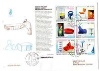 2001 REPUBBLICA BUSTA FDC FOGLIETTO DESIGN V/1006
