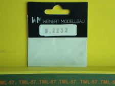 Détaillage WEINERT HO Rondelles plastique pour vis diam 2 mm ep 0,2 - ref 2232