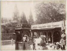 Albumen Print Golden Temple Varanasi Benares India c1880 Photograph