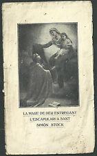 Estampa antigua de San Simon Stock andachtsbild santino holy card santini