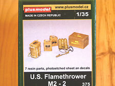 Plusmodel 1:35 M2-2 U.S. Flamethrower with Accessories Model Kit