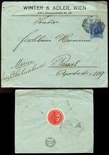 Austria 1904 stationery privato ordine inverno + ADLER + Guarnizione per il Messico