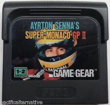 Jeu AYRTON SENNA'S SUPER MONACO GP II 2 pour sega GAME GEAR juego spiel vintage