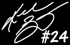 KOBE BRYANT #24 LA Lakers NBA Basketball Vinyl Decal Sticker Bumper Car White
