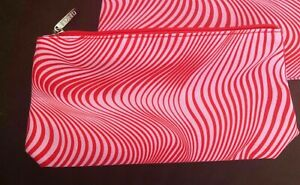 NEW Clinique Red pink zebra  printed Make Up Cosmetic Beauty Bag (Medium size)