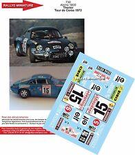DÉCALS 1/18 réf 730 Renault Alpine 1800 Therier Tour de Corse 1972