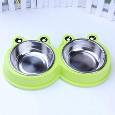 Pet Dog Cat Stainless Steel Travel Feeding Bowl Food Water Dish Feeder Lot