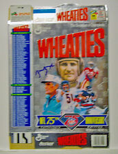 Sammy Baugh autographed NFL 75th Anniversary Wheaties Box Washington Redskins