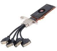 Dell Vostro 410 AMD FIREPRO QUAD 4 Monitor DVI Video Card PCI-Express PCI-E x1