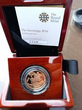 More details for royal mint gold proof sovereign 2016 limited edition no7386 of 7500