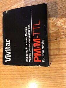 Vivitar Dedicated Processor Module PM/M-TTL Pour Minolta