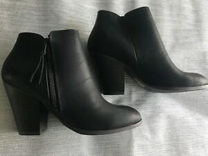 Ladies Charlotte Russe Black Ankle Boots Size 5 uk New