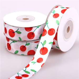 10 Yards Cherry Grosgrain Ribbon for Wedding Birthday Anniversary Gifts Wrapping
