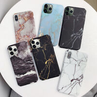 For iPhone 11 Pro Max XS XR 8 Plus Matte Hard Gold Foil Marble Phone Case Cover