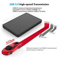"New 2.5"" Slim USB 3.0 SATA External HDD HD Hard Drive Enclosure Case Box+Cable"