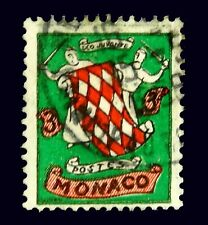 1954  Monaco Stamp  / Coat of Arms   / Used