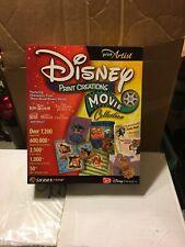 Sierra PrintArtist Disney Print Creations Movie Collection PC Computer Software