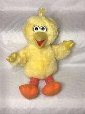 "Playtime Big Bird Plush Talks Laughs 16"" Sesame Jim Henson 70259 Tyco 1996 Works"