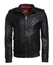 Superdry Leather Coats & Jackets for Men