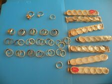 Lot 134 rings assorted sizes new old stock costume jewerly party favor craft T36