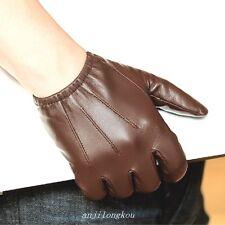 Men Police tactical real leather gloves * Black Brown