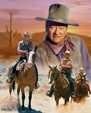 John Wayne's Amazing Life In Western Movies Borderless 8.5x11 Color Photo