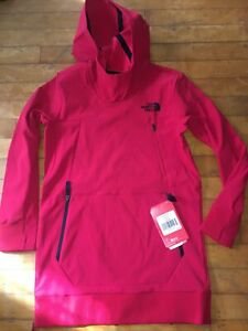 NWT Boys North Face Red Tekno Hoodie Size M 10/12