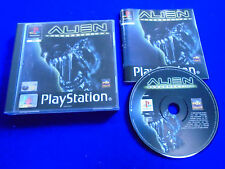 ps1 ALIEN RESURRECTION Shooter Game Boxed COMPLETE PAL ps2 ps3