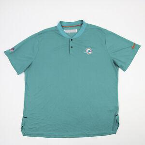 Miami Dolphins Nike Dri-Fit Polo Men's Aqua Used