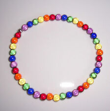 8mm Rainbow Miracle Bead Anklet - lesbian - Handmade
