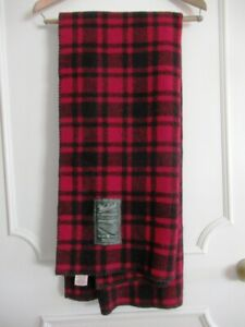 """WOOLRICH for AMERICAN EAGLE OUTFITTERS BUFFALO PLAID THROW BLANKET 50"""" X 60"""""""