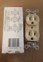 PASS & SEYMOUR 5262-I LEGRAND 15A 125V IVORY DUPLEX RECEPTACLE NEW