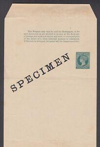Leeward Islands H&G E1, 1881 ½p green Queen Victoria SPECIMEN Wrapper