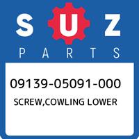 09139-05091-000 Suzuki Screw,cowling lower 0913905091000, New Genuine OEM Part