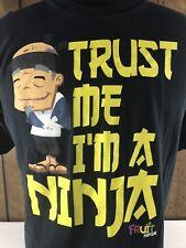 """Fruit Ninja Men's Black """"Trust Me I'm A Ninja"""" Graphic T-Shirt Size Large"""