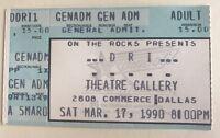 D R I - US Concert Ticket Stub 1990 Dallas, Texas