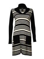 Style & Co. Women's Striped Lurex Knit Pocket Sweater Dress